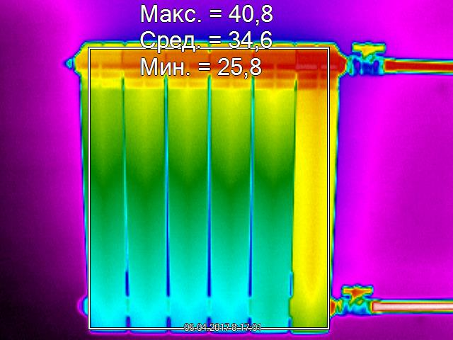 Тепловизионное обследование батарей